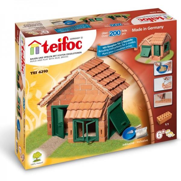 Teifoc Ziegelbausatz Haus Dachpfanne (2 Pläne)
