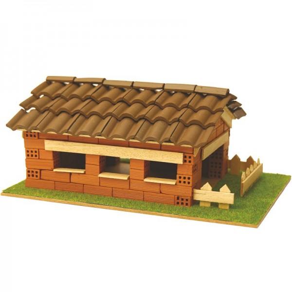 Steinbausatz Haus Kid 7, Ziegelsteinbausatz zum Mauern