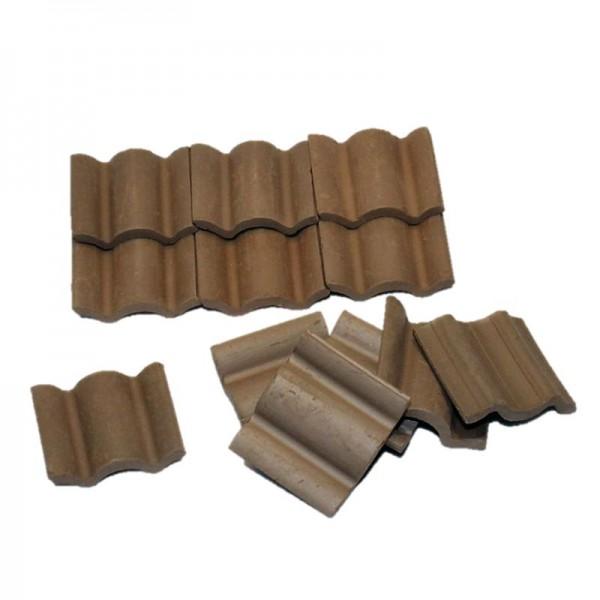 Dachpfanne, Dachziegel aus Ton, 25 Stk. dunkelbraun