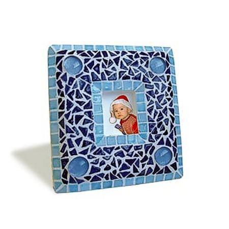 Mosaic Bausatz Bilderrahmen, blau