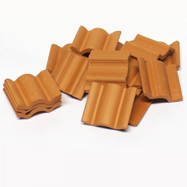 Flemische Dachpfanne, Dachziegel, Ton, 100 Stk. Modellbau