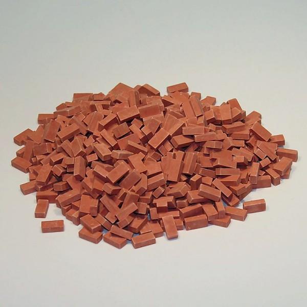 Miniaturmauersteine, Ziegelsteine M1:24, 800 Stk. ziegelrot dunkel