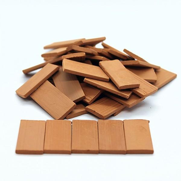 Bodenplatten, Dachplatten, Treppenstufen, 40 Stk. aus Ton