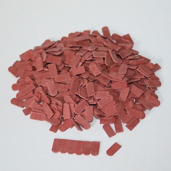 Flachziegel Biberschwanz, Miniaturdachziegel, M1:32/35, rot dunkel, 500 Stk.