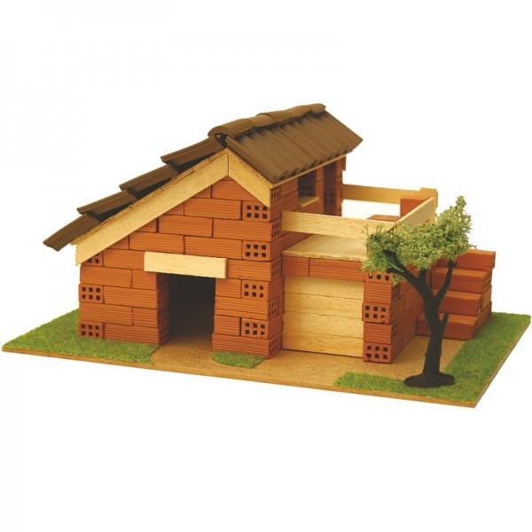 Steinbausatz Haus Kid 6, Ziegelsteinbausatz zum Mauern