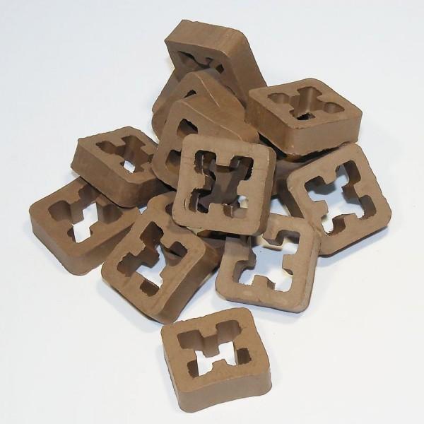 Hohlblockstein, Gitterstein dunkelbraun, für Modellbau, 15 Stk.