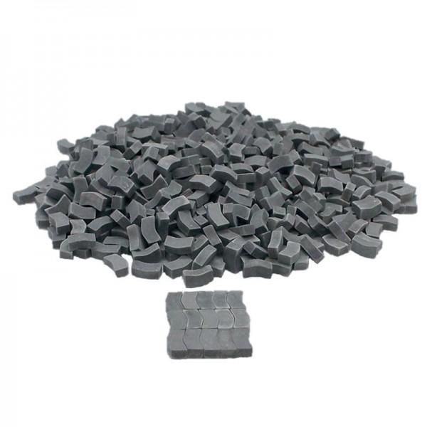 Miniatur Pflastersteine Typ W grau dunkel, M 1:32, Keramik