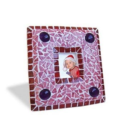 Mosaic Bausatz Bilderrahmen, rot