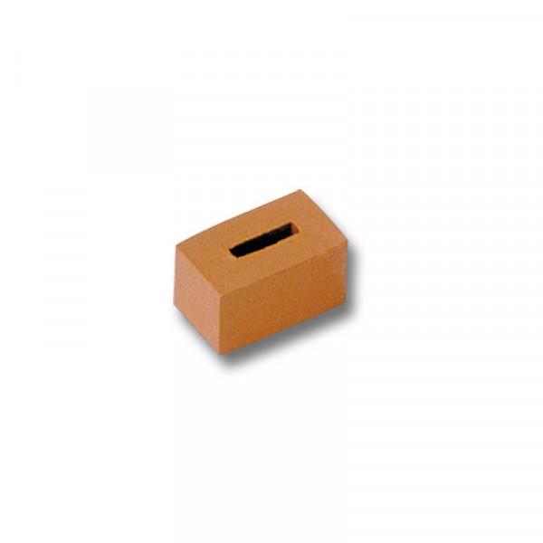 Teifoc, Stein mit Loch, Miniaturziegelstein, gebrannter Ton, 20 Stk.