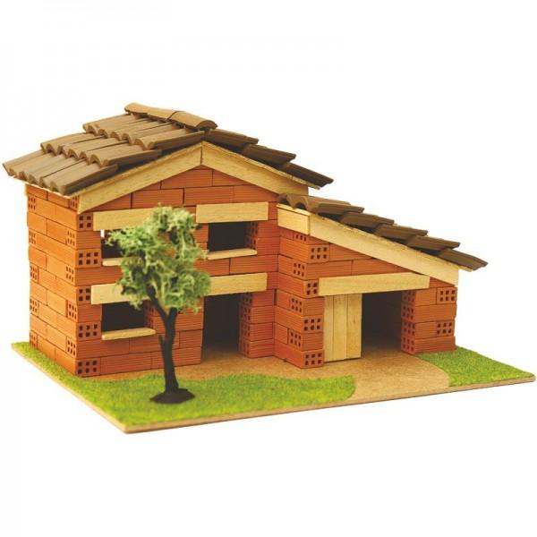 Steinbausatz Haus Kid 8, Ziegelsteinbausatz zum Mauern