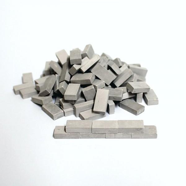 Miniaturmauersteine, Ziegelsteine M 1:12 - grau hell, 100 Stk.