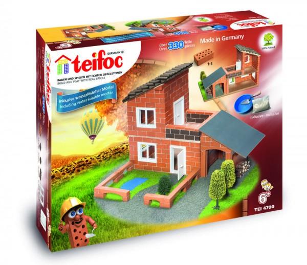 Teifoc Ziegelbausatz, Steinbausatz Villa mit Garage
