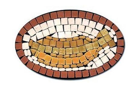 ovaler Mosaik Bausatz Bananen mit Magnetfolie